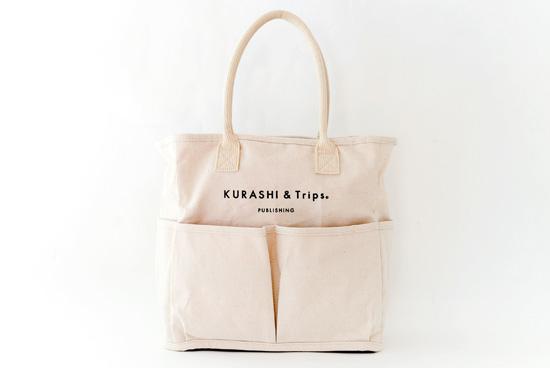 【次回10月再入荷予定】Vegie bag × KURASHI&Trips PUBLISHING/コラボトートバッグ (生成り)の商品写真