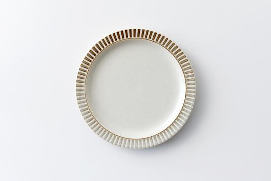 美濃焼/パティオストーン/プレート(直径約18.5cm)の商品写真