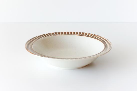 美濃焼/パティオストーン/ディーププレート(直径約18cm)の商品写真