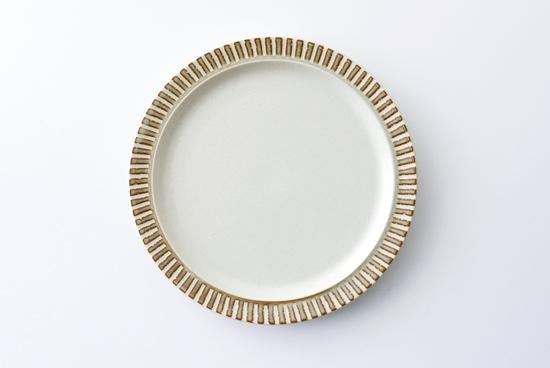 美濃焼/パティオストーン/プレート(直径約21.7cm)の商品写真