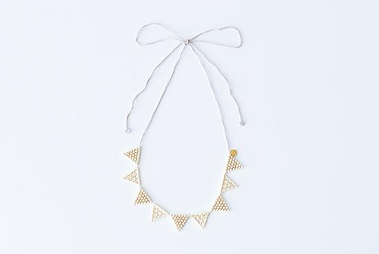 000/ネックレス/Lace triangle(ゴールド)の商品写真