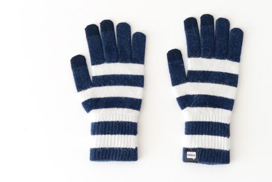 EVOLG/MARSH/ショート手袋(ディープブルー×ホワイト)の商品写真