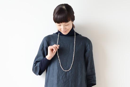 【次回入荷未定】Encachette/アンキャシェット/バロックパールロングネックレスの商品写真