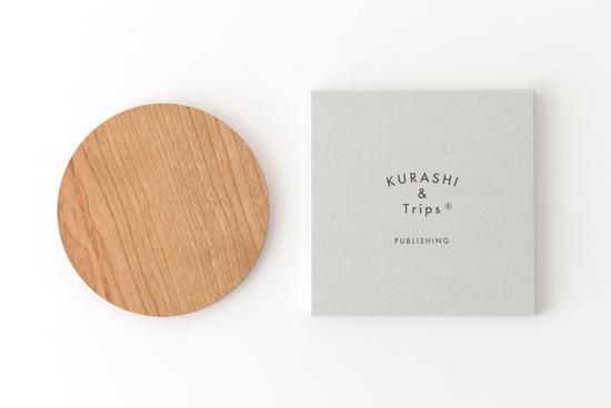 KURASHI&Trips PUBLISHING/木のコースターの商品写真