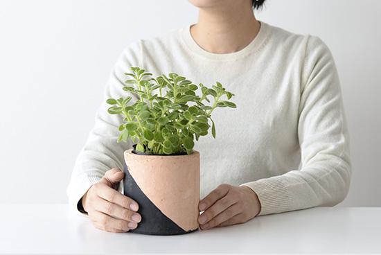 植木鉢/マルユトシリンダー(ブラック)の商品写真