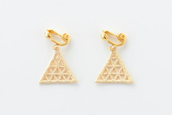 000/イヤリング/Lattice triangle(ゴールド)の商品写真
