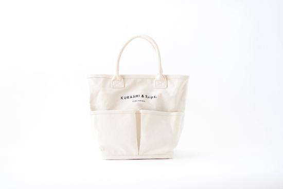 Vegie bag × KURASHI&Trips PUBLISHING/コラボトートバッグ・ミニ (生成り)の商品写真