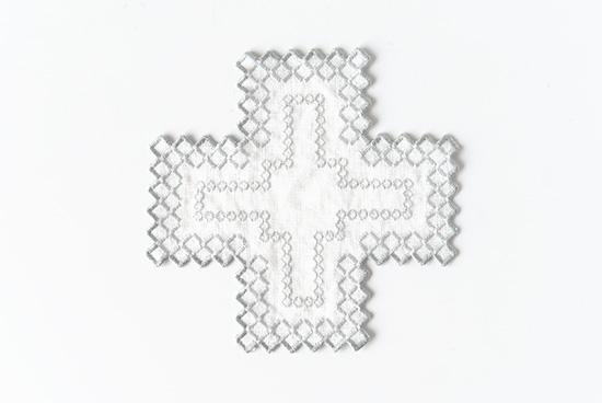KURASHI&Trips PUBLISHING/ドイリー(オフホワイト×グレー)の商品写真