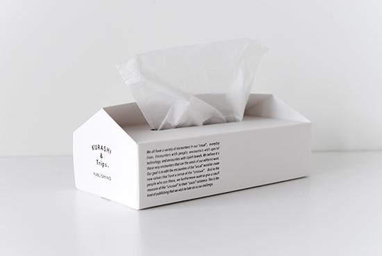 KURASHI&Trips PUBLISHING/オリジナルティッシュボックスケース(ホワイト)の商品写真