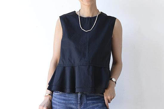 manon/ノースリーブシャツ(ブラック)の商品写真