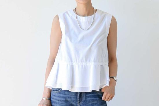 manon/ノースリーブシャツ(ホワイト)の商品写真