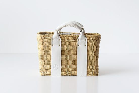 【次回入荷初夏頃予定】CERASUS/ケラスス/レザーかごバッグ(ホワイト)の商品写真