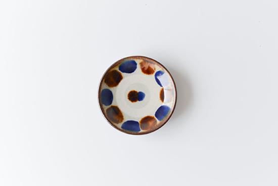 やちむん/飴コバルト点打/3寸皿(径:約9cm)の商品写真