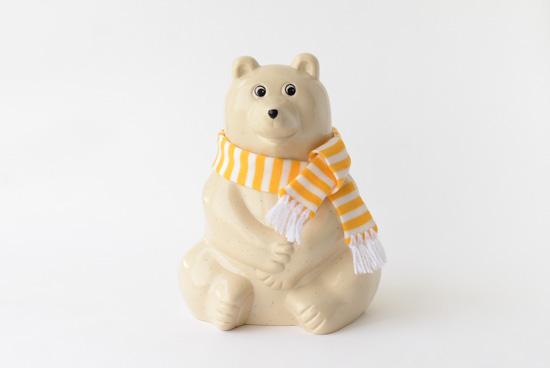 【マフラープレゼント中!】フィンランド/Polar Bear Money BOX/白くまの貯金箱の商品写真