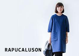 RAPUCALUSON/ラプカルソン/ミツマタ柄ワンピースの画像