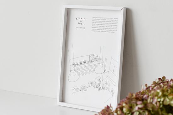 【入荷未定】KURASHI&Trips PUBLISHING/ペーパーフレーム/A4変形(ホワイト)の商品写真