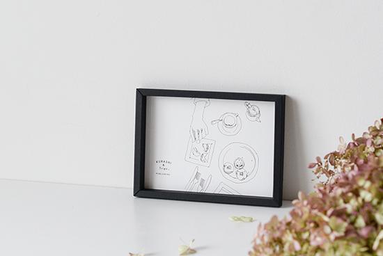 KURASHI&Trips PUBLISHING/ペーパーフレーム/B6(ブラック)の商品写真