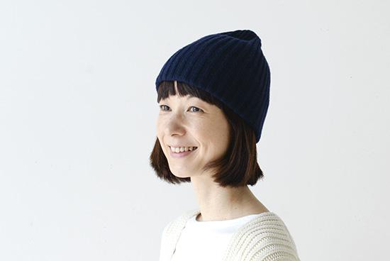 【今季終了】mature ha. /マチュアーハ/ニット帽(ネイビー)の商品写真