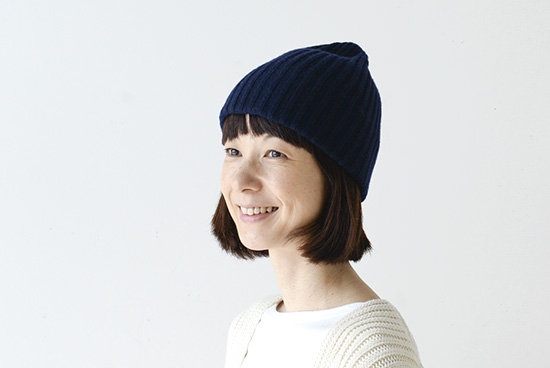 mature ha. /マチュアーハ/ニット帽(ネイビー)の商品写真