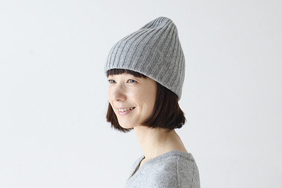 【今季終了】mature ha. /マチュアーハ/ニット帽(グレー)の商品写真