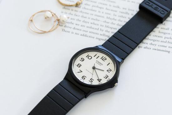 CASIO/腕時計/ラウンドフェイス/ベーシック(ホワイト)の商品写真