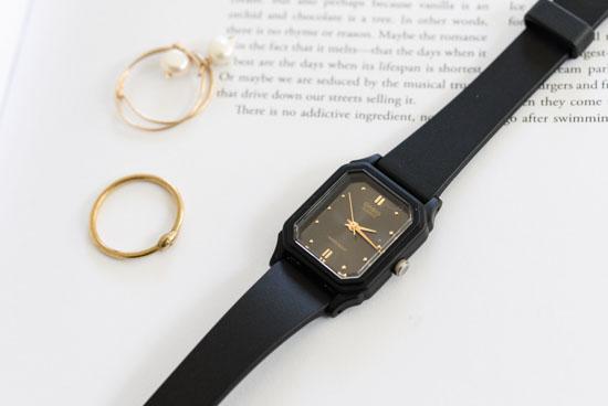 CASIO/腕時計/スクエアフェイス/スモール(ブラック)の商品写真