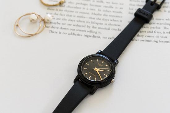 CASIO/腕時計/ラウンドフェイス/スモール(ブラック)の商品写真