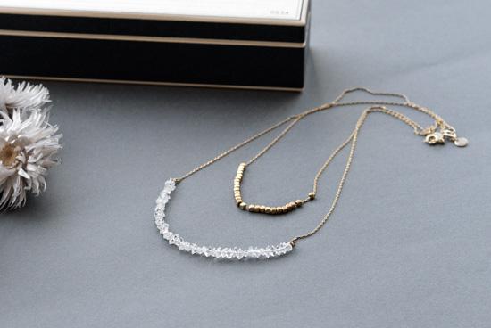 CERASUS/ケラスス/ハーキマーダイヤモンド 2連ネックレスの商品写真