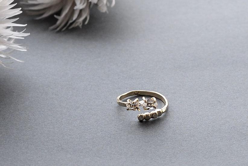 CERASUS/ケラスス/ハーキマーダイヤモンドリング(フリーサイズ)の商品写真