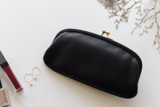 StitchandSew/ステッチアンドソー/がま口財布(ブラック)の商品写真