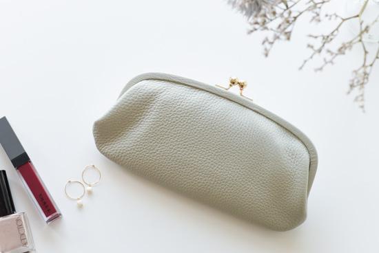 【次回7月頃入荷予定】StitchandSew/ステッチアンドソー/がま口財布(グレー)の商品写真