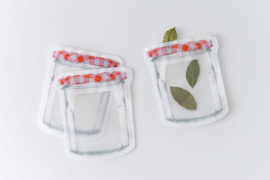 KIKKERLAND/ジッパーバッグ/ジャム瓶(M/3枚セット)の商品写真