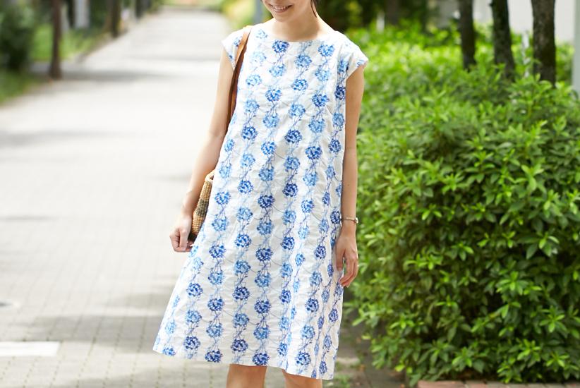 【数量限定】grin/グリン/フラワードット刺繍ワンピース(オフホワイト)の商品写真