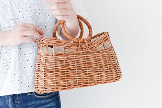 【次回10月頃入荷予定】KURASHI&Trips PUBLISHING/オリジナルかごバッグ(レザーパーツ付き)の商品写真