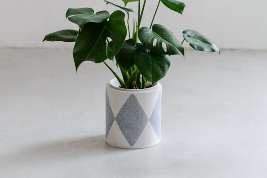 植木鉢/ダイヤ(径18cm)の商品写真