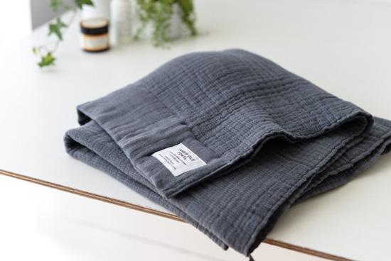 INNER PILE TOWEL/バスタオル(チャコールグレー)の商品写真