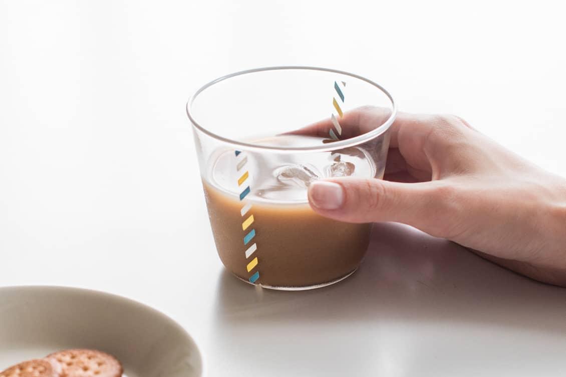 【お一人様2個まで】澤田和香奈/グラス/リボン(ホワイト)の商品写真