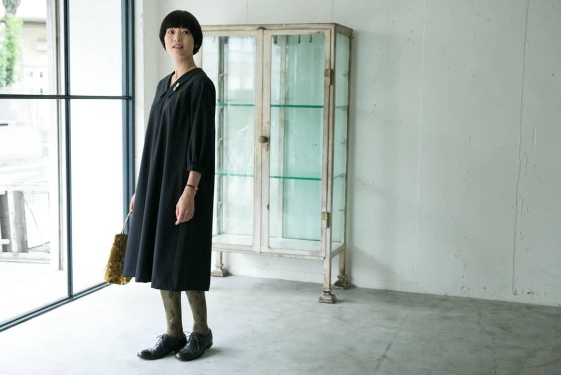 【取扱終了】「大切な日もわたしらしく」フォーマルワンピース(襟付きAライン)/atelier naruse×KURASHI&Trips PUBLISHINGの商品写真