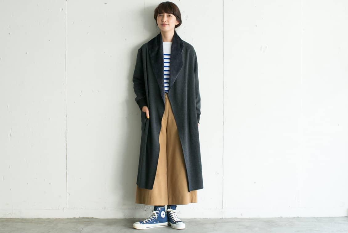【取扱い終了】MidiUmi/ミディウミ/コーディガン(チャコールグレー)の商品写真