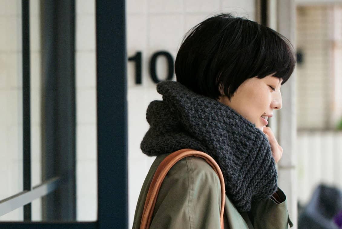 【今季終了】m.m Orchestra/スヌード(チャコールグレー)の商品写真