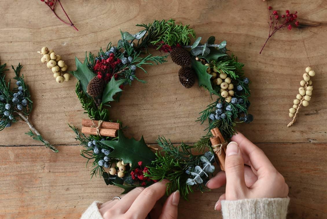 【取り扱い終了】「クリスマスも、わたし好みに」冬のリースキット/socuka×KURASHI&Trips PUBLISHINGの商品写真