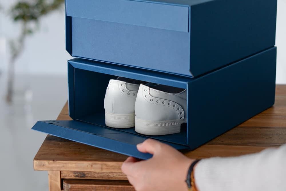 「お気に入りの玄関、つくろう」重ねたまま取り出せるシューズボックス(Mサイズ)/KURASHI&Trips PUBLISHINGの商品写真