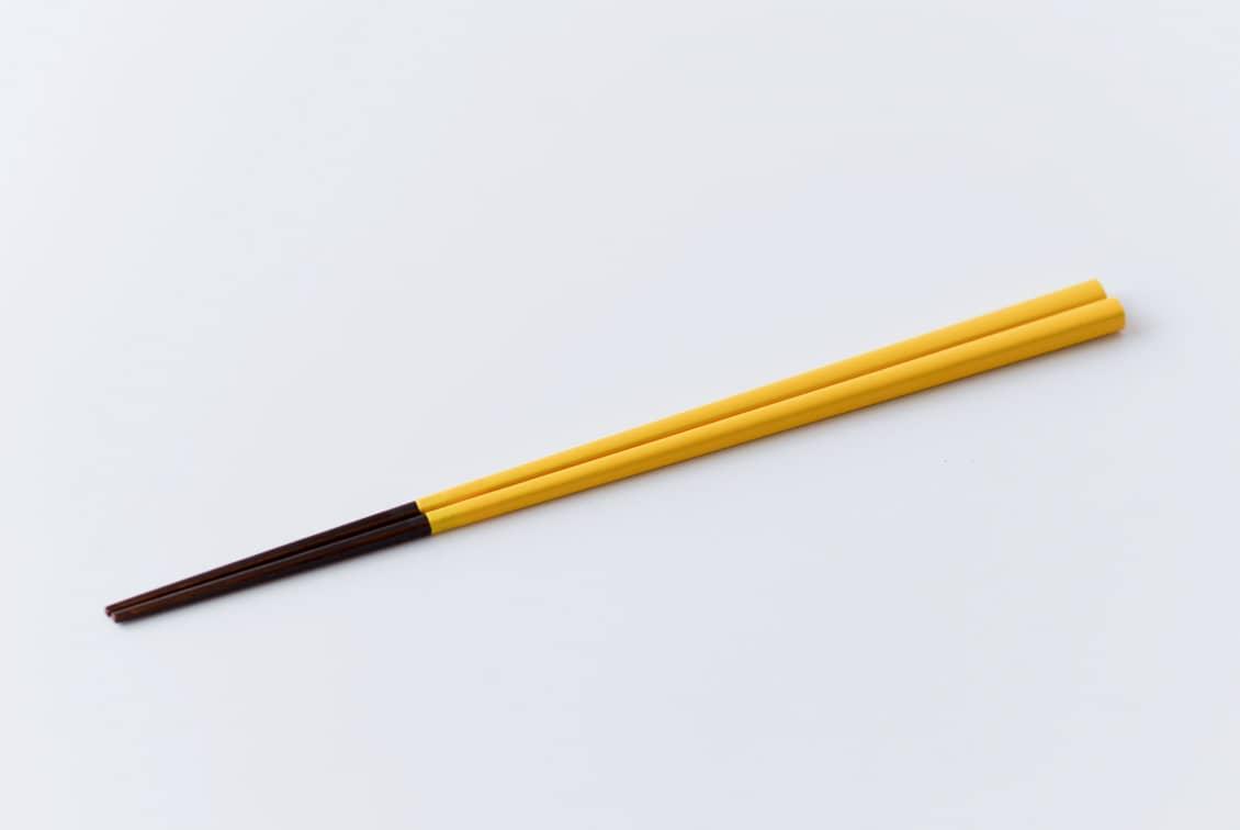 伝統の色箸/お箸/山吹色(やまぶきいろ)の商品写真