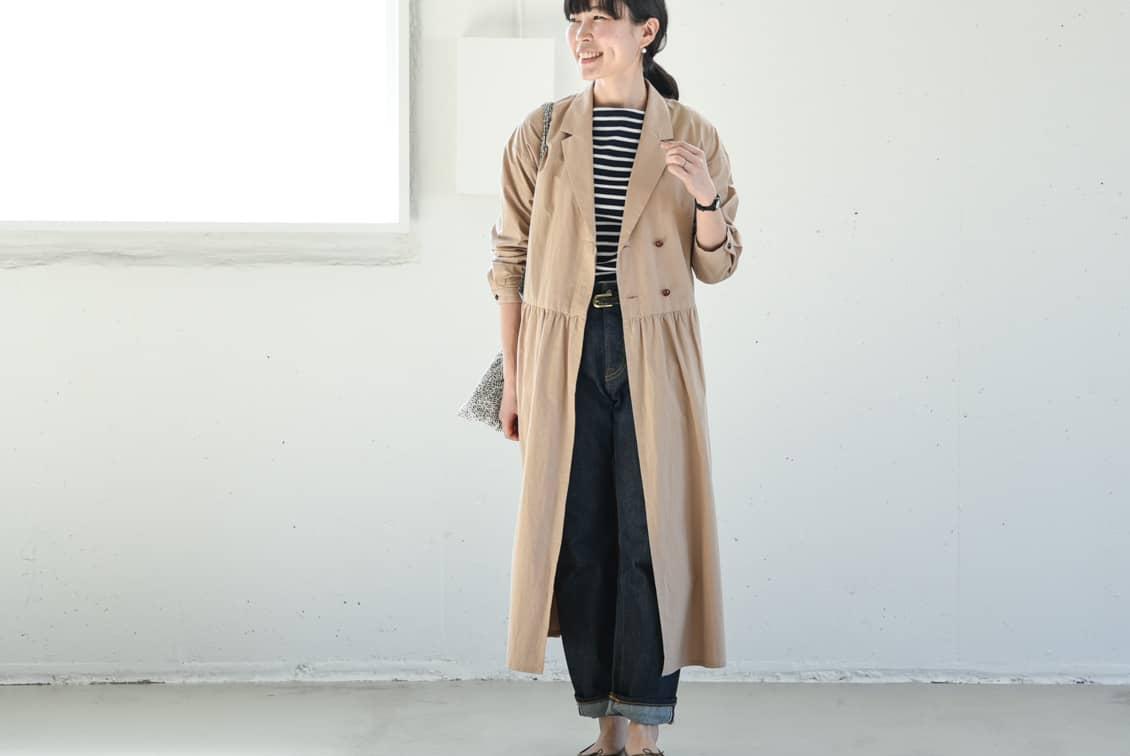 【今季終了】nooy/ヌーイ/ワンピースコート(ベージュ)の商品写真