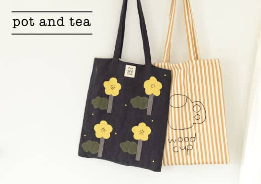 pot and tea/ポットアンドティー/トートバッグの画像