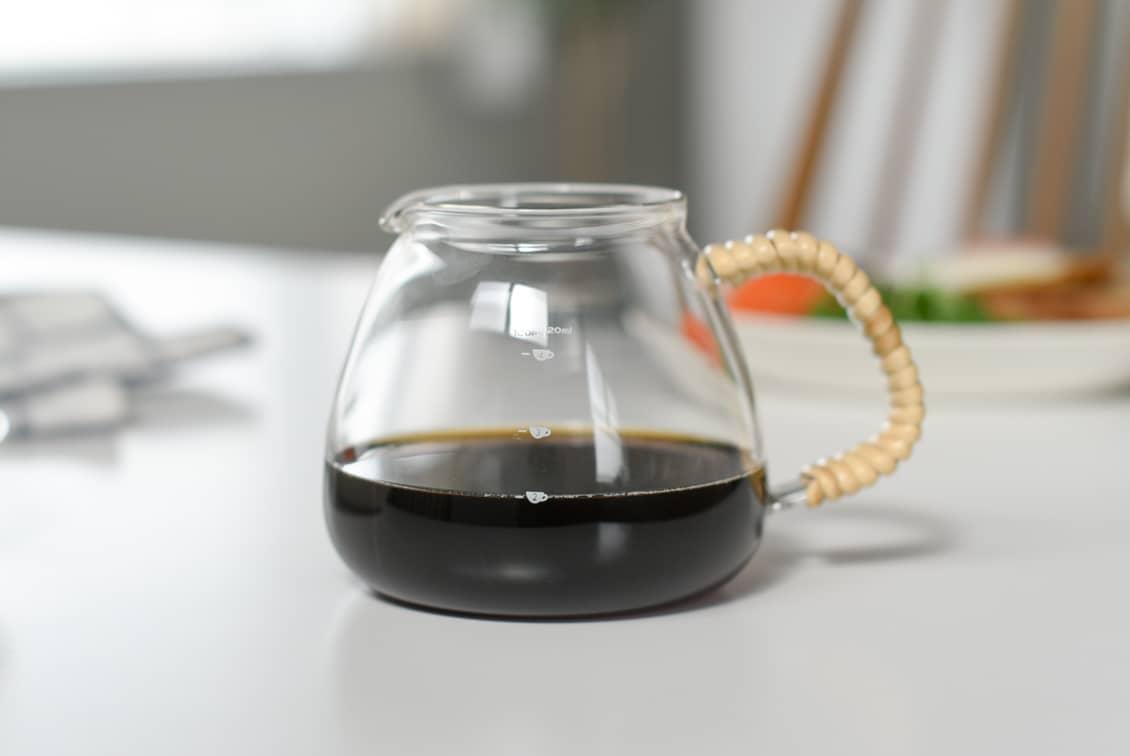 【次回入荷未定】ツバメラタン/ガラスとラタンのコーヒーサーバー(500ml)の商品写真
