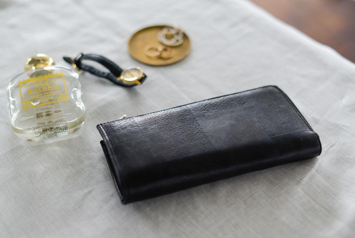 【在庫限り取扱終了】yes/イエス/スキツギ/長財布(ブラック)の商品写真