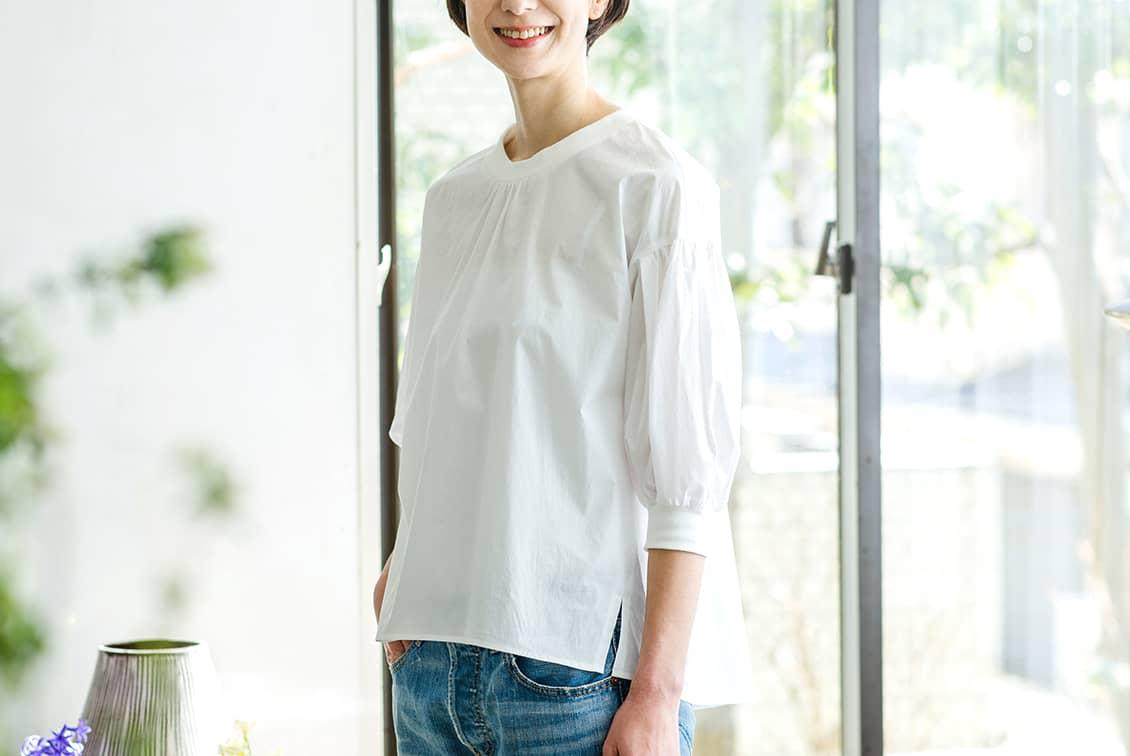 【今季終了】「洗いざらしがマイルール」2WAYトップス(ホワイト)/香菜子×KURASHI&Trips PUBLISHINGの商品写真
