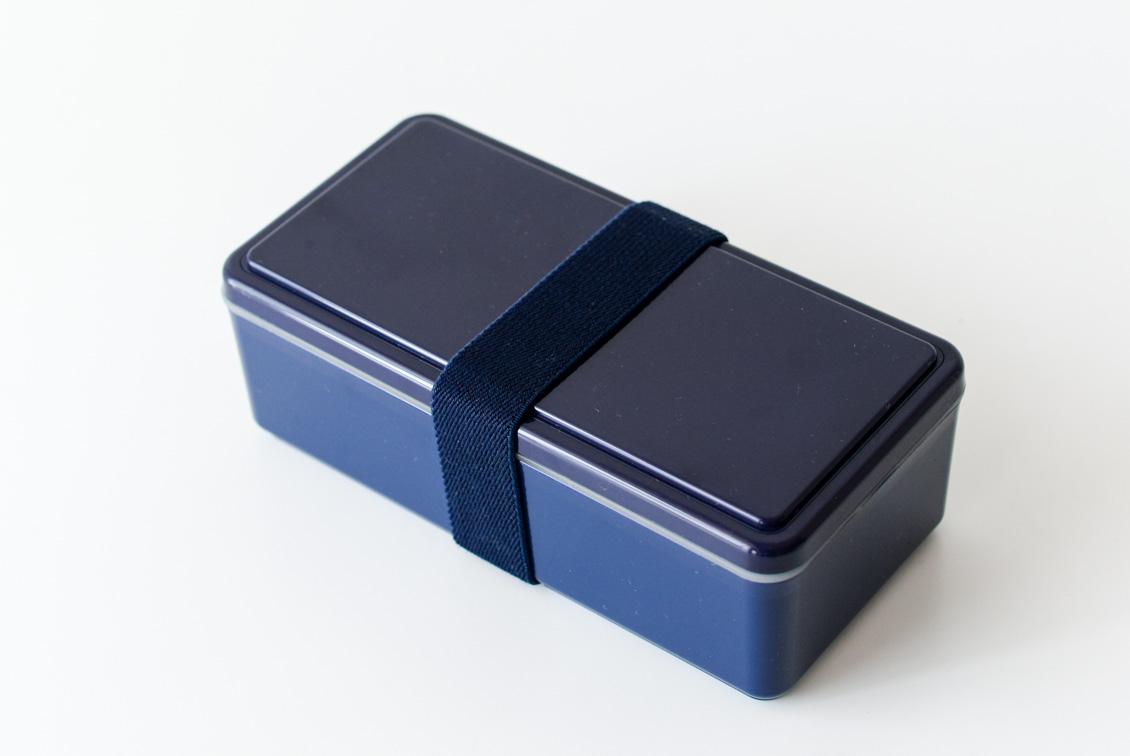 フタが保冷剤になるランチボックス/500ml/ネイビーの商品写真