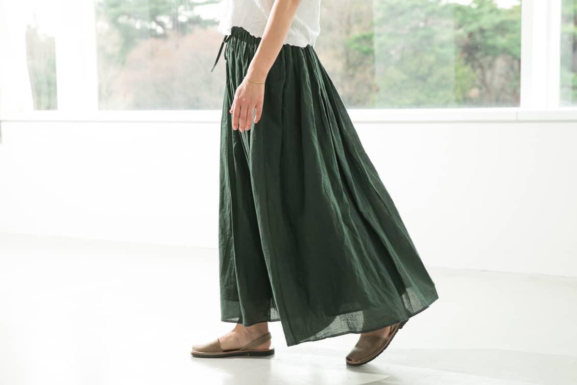 【取扱終了】SOIL/ソイル/ ギャザースカート(グリーン)の商品写真